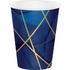 Navy Blue and Gold Foil 12 oz Paper Cups 96 ct