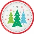 Holiday Whimsy Christmas Tree Dinner Plates 96 ct