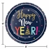 New Year Countdown Dinner Plates 96 ct