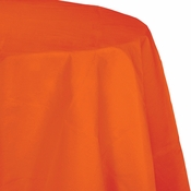 Touch of Color Sunkissed Orange Octy-Round Paper Tablecloths in quantities of 1 / pkg, 12 pkgs / case
