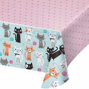 Cat Party Plastic Tablecloths 6 ct