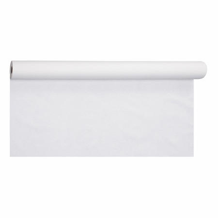 White Linen-Like Banquet Table Roll is sold in quantities of 1 / pkg, 1 pkg /case