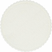 White Linen-Like Coasters sold in quantities of 1000 / pkg, 1 pkg / case.