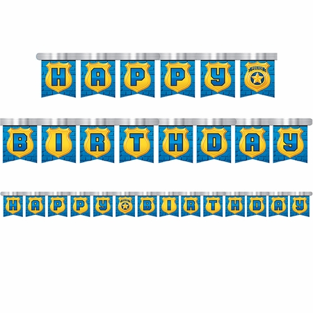 Police Party Party Banners 12 ct