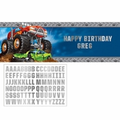Monster Truck Large Banners 6 ct