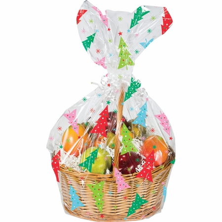 Colorful Trees Cello Bags 12 ct