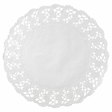 "18"" White Kenmore Lace Doilies 500 ct"