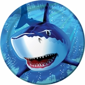Blue Shark Splash Dinner Plates sold in quantities of 8 / pkg, 12 pkgs / case