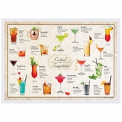 "10"" x 14"" Cocktails Paper Placemats 1000 ct"