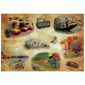 "10"" x 14"" Tour of Italy Paper Placemats 1000 ct"