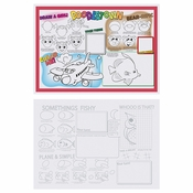 "10"" x 14"" Doodletown Fun 2-Sided Kids Placemats 1000 ct"