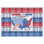 "10"" x 14"" US State Facts Paper Placemats 1000 ct"