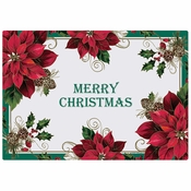 "10"" x 14"" Traditional Poinsettia Paper Placemats 1000 ct"