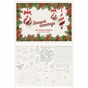 "10"" x 14"" Holiday Ornaments Gift Certificate Paper Placemats 1000 ct"