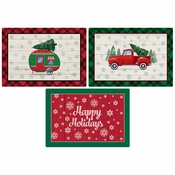 "10"" x 14"" Vintage Christmas Paper Placemats Multipack 1000 ct"