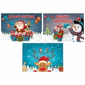 "9.75"" x 14"" Winter Wonderland Multipack Paper Placemats 1000 ct"