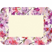 """Pink, purple and ivory Mali 15"""" x 20"""" Traymats sold in quantities of 1000 / pkg, 1 pkg / case."""