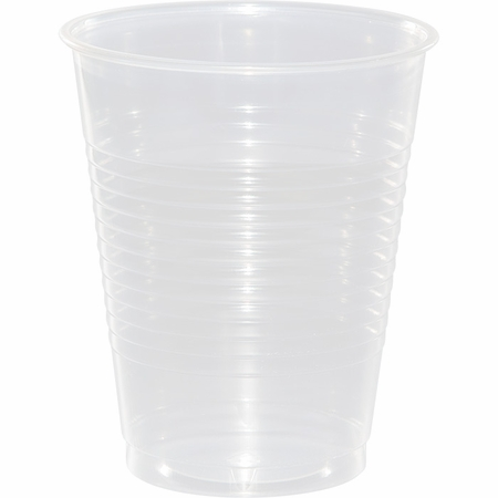 Touch of Color Clear 16 oz Plastic Cups in quantities of 20 / pkg, 12 pkgs / case