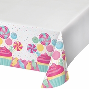 Candy Bouquet Plastic Tablecloths 12 ct