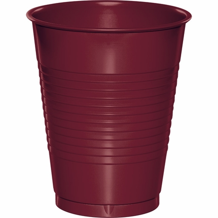 Touch of Color Burgundy 16 oz Plastic Cups in quantities of 20 / pkg, 10 pkgs / case