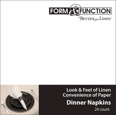 Ultra-soft and absorbent airlaid White Better than Linen� Dinner Napkins in quantities of 24 / pkg, 12 pkgs / case