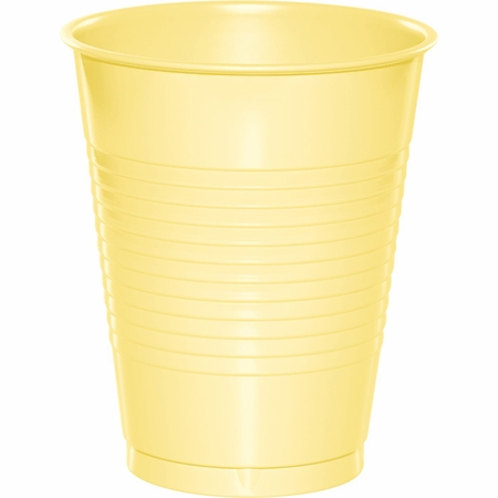 Touch of Color Mimosa 16 oz Plastic Cups in quantities of 20 / pkg, 12 pkgs / case