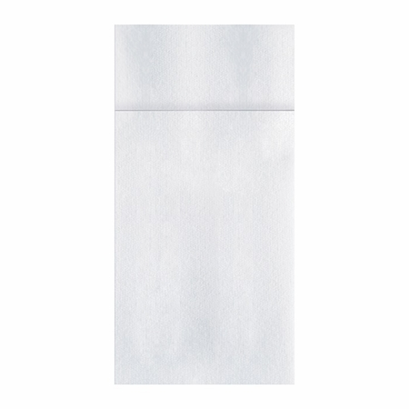 Linen-Like Quickset White Dinner Napkins in quantities of 75 / pkg, 4 pkgs / case