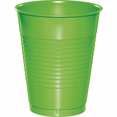 Touch of Color Fresh Lime 16 oz Plastic Cups 288 ct in quantities of 20 / pkg, 10 pkgs / case