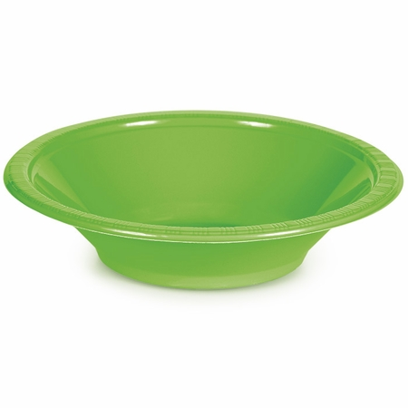 Touch of Color Fresh Lime 12 oz Plastic Bowls 240 ct in quantities of 20 / pkg, 12 pkgs / case