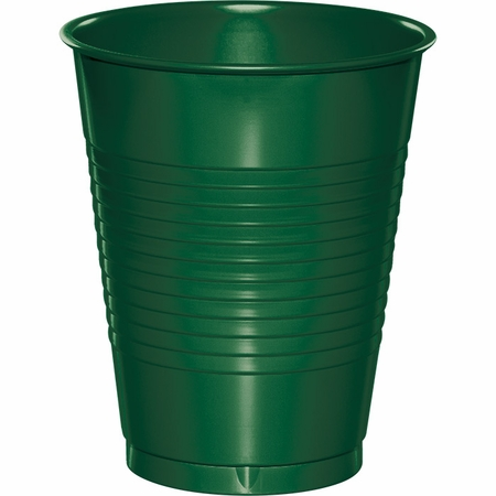 Touch of Color Hunter Green 16 oz Plastic Cups in quantities of 20 / pkg, 12 pkgs / case