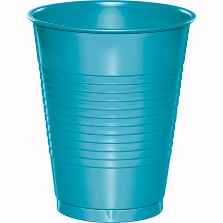 Touch of Color Bermuda Blue 16 oz Plastic Cups 240 ct in quantities of 20 / pkg, 10 pkgs / case