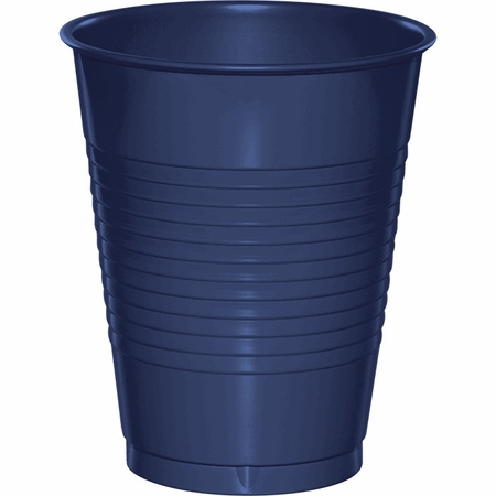 Touch of Color Navy 16 oz Plastic Cups in quantities of 20 / pkg, 12 pkgs / case
