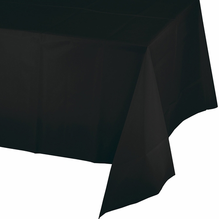 Black Velvet Plastic Tablecloth 24 ct
