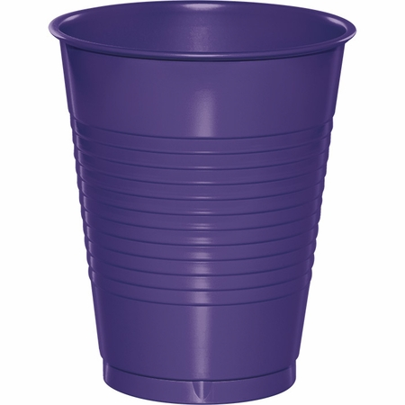 Touch of Color Purple 16 oz Plastic Cups in quantities of 20 / pkg, 12 pkgs / case