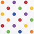 Multicolor Polka Dots and Stripes Beverage Napkins 192 ct