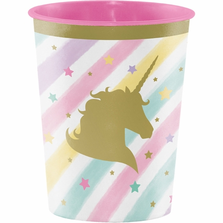 Sparkle Unicorn Plastic Keepsake Cups 12 ct