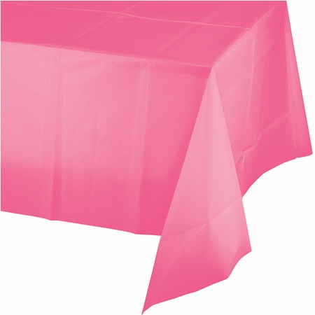 Candy Pink Plastic Tablecloth 12 ct