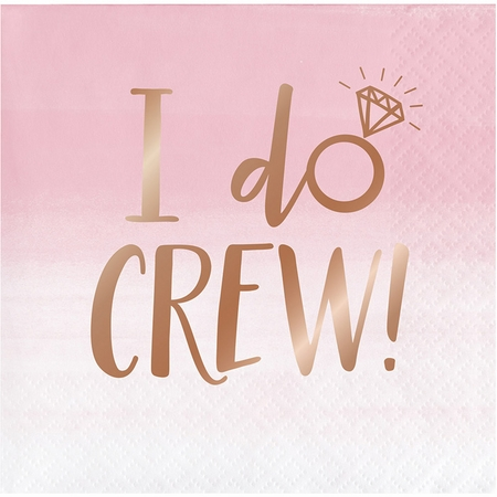 Rose All Day I Do Crew Beverage Napkins 192 ct