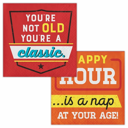 Old Age Humor Youre a Classic Beverage Napkins 192 ct