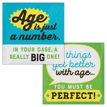 Old Age Humor Age is Just a Number Beverage Napkins 192 ct