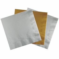 Wholesale Silver & Gold Party Napkins