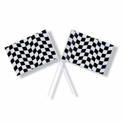 Black and White Check Flag 48 ct