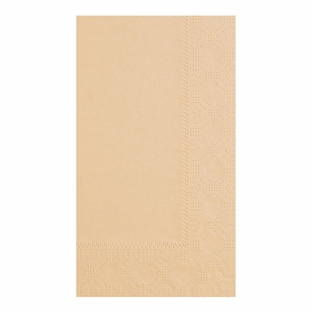 Beige Dinner Napkins in quantities of 125 / pkg, 8 pkgs / case