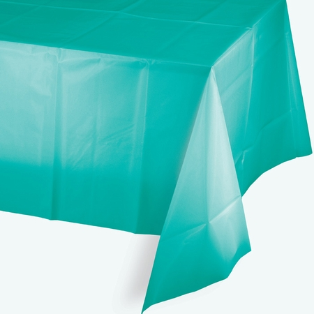 Teal Lagoon Plastic Tablecloths 12 ct