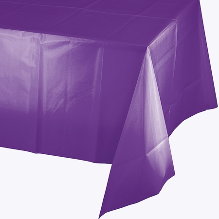Amethyst Purple Plastic Tablecloth 12 ct