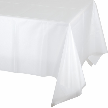 Touch of Color Clear Plastic Tablecloths in quantities of 1 / pkg, 12 pkgs / case