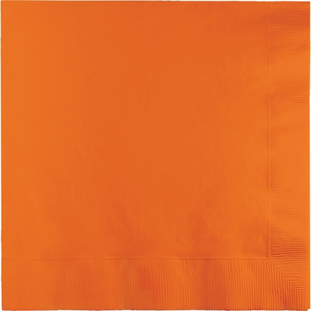 Sunkissed Orange Dinner Napkins 3 Ply 250 ct