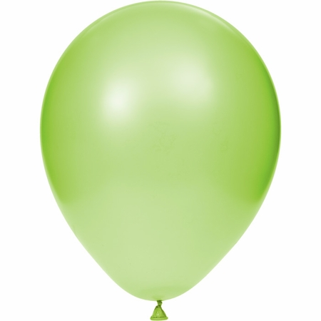 Lime Green Latex Balloons sold in quantities of 15 / pkg, 12 pkgs / case