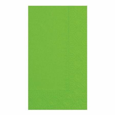 Fresh Lime Hoffmaster Dinner Napkins in quantities of 125 / pkg, 8 pkgs / case