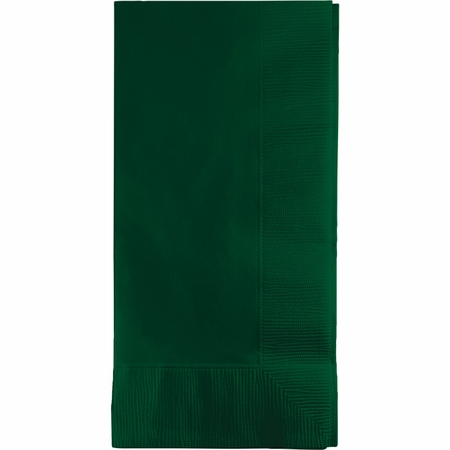 Touch of Color Hunter Green 2 Ply Dinner Napkins in quantities of 50 / pkg, 12 pkgs / case
